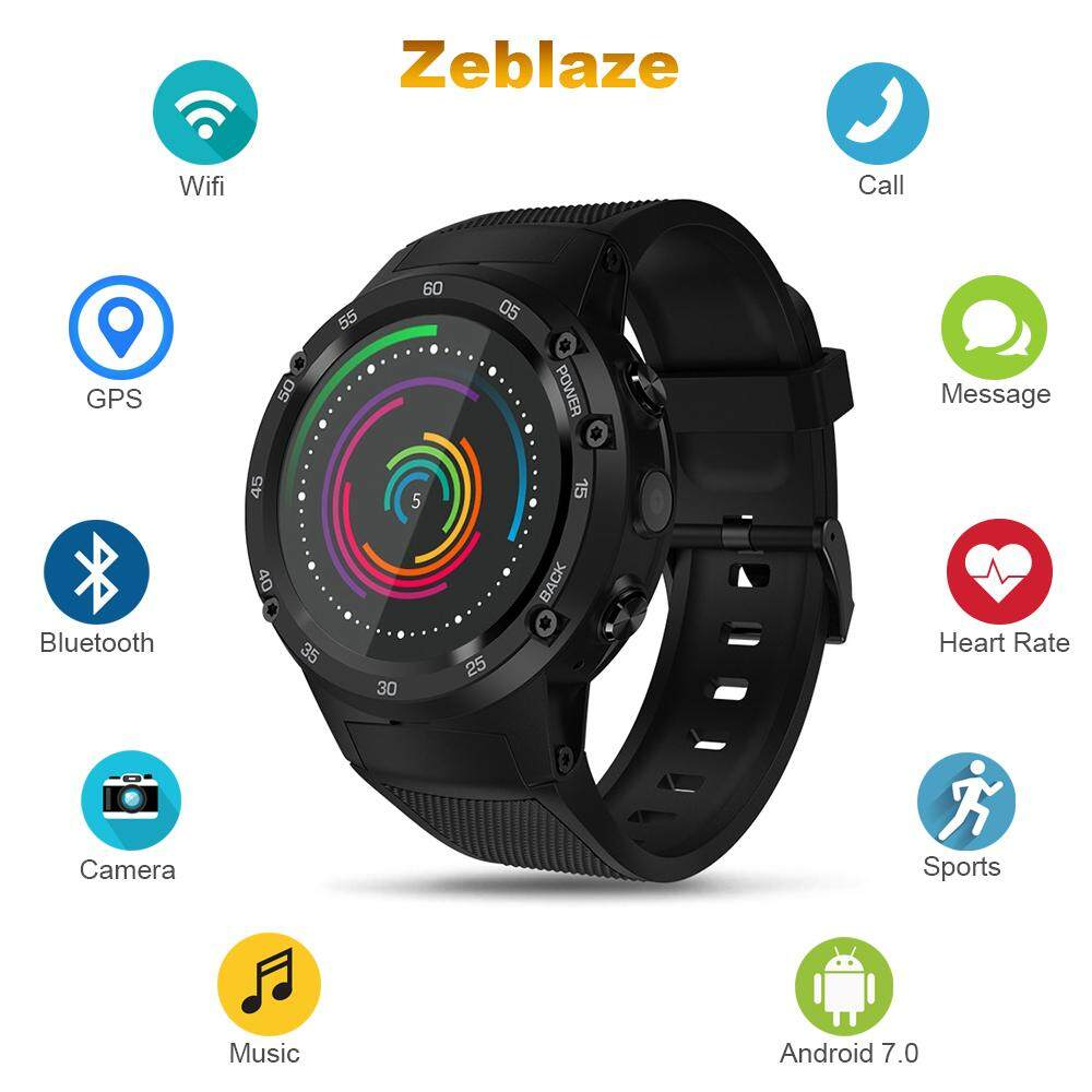 Zeblaze THOR 4 4G Smartwatch Phone 1.39 inch Android 7.0 MTK6737 1.1GHz Quad Core 1GB RAM 16GB ROM 5.0MP Camera 580mAh Built-in CORNING Gorilla Glass