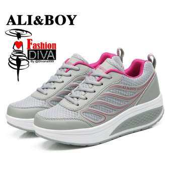 ALI&BOY รุ่นปีกนางฟ้า แฟชั่นรองเท้าผ้าใบสไตล์เกาหลี ใส่วิ่ง ใส่เที่ยว ใส่ลำลอง นุ่มเบา ทรงสวย ใส่สบาย ระบายอากาศได้ดี