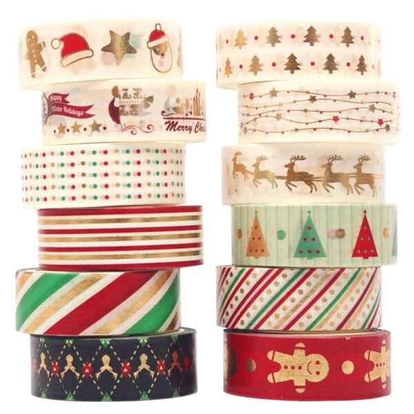 Mua 12 Pcs Decorative Duct Tape Holiday Christmas Washi Tape Craft Decorative Kits 15mmx5M