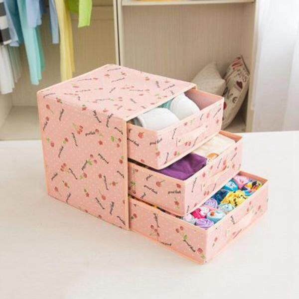 Foldable Divider Storage Bra Drawers Non-Woven Fabric Folding Cases Necktie Socks Underwear Clothing Organizer Container Boxes