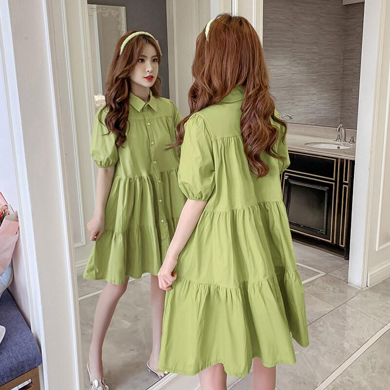 JIEGENG HOME Kiểu Pháp Tím Guimi Mặc Váy Nữ 2021 Quần Áo Mùa Xuân Mẫu Mới Phiên Bản Hàn Quốc Tay Bồng Búp Bê Áo Sơ Mi Đầm