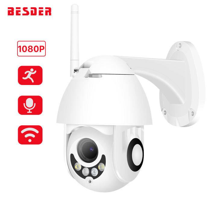 BESDER 1080P HD CCTV IP Camera Outdoor Speed Dome Waterproof Wifi Camera PTZ Pan Tilt Security Camera IR 50m Night Vision Network CCTV Surveillance P2P Indoor Two Way Audio Motion Detection Monitor IP Camera
