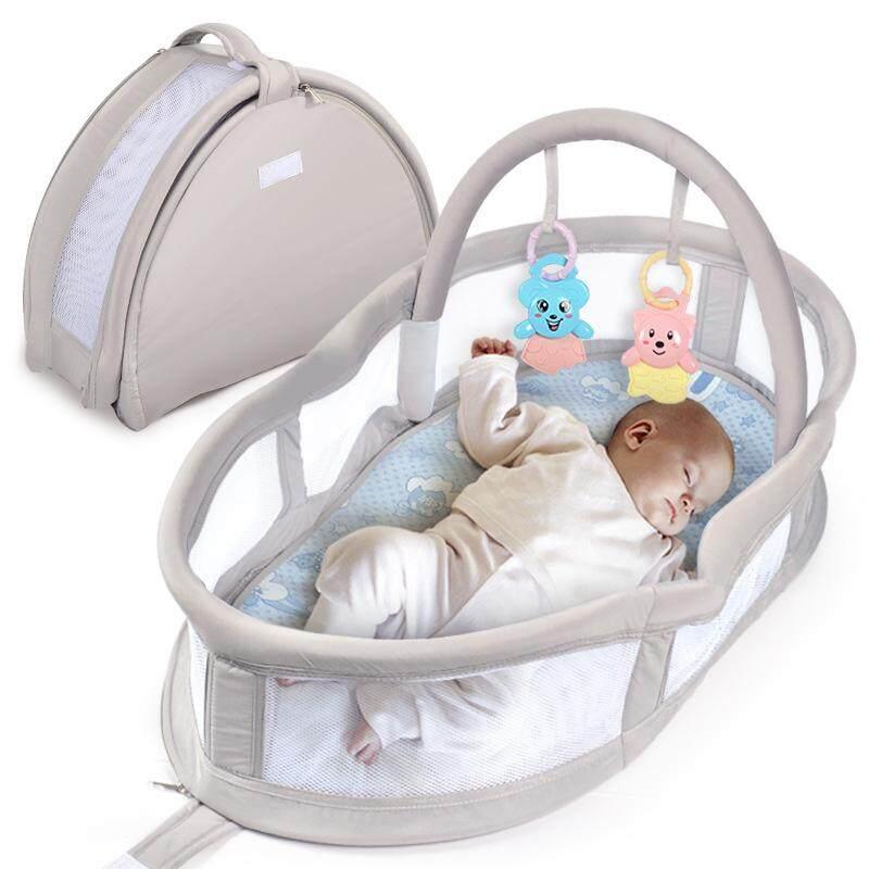 มัลติฟังก์ชั่นแบบพกพาเตียงเด็กทารก Playpen ทำแบบตัวจริงที่นอนทารก Petpet ตะกร้าเปลเด็กอ่อนทารกแรกเกิดสามารถพับได้ Bb By Taobao Collection.