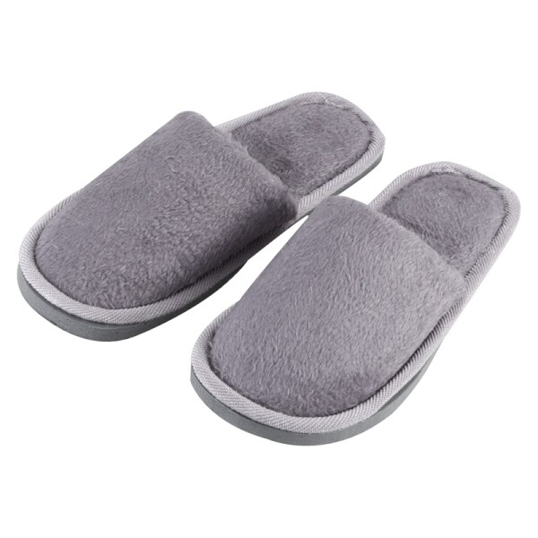 Giá bán Men Gray Fleeces House Soft Winter Warm Slippers UK 8.5 for Feet Length 27 cm