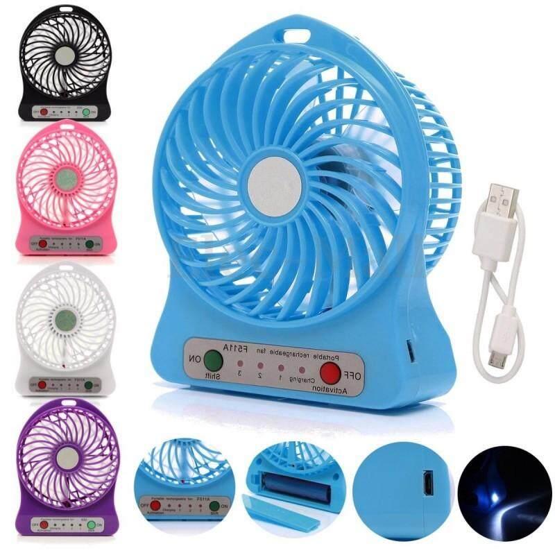 พัดลมพกพา แถม ถ่านชาร์ต กับ สายชาร์ต มี5สี Mini Fanพัดลมตั้งโต้ะ พัดลมมินิ By Shop24.