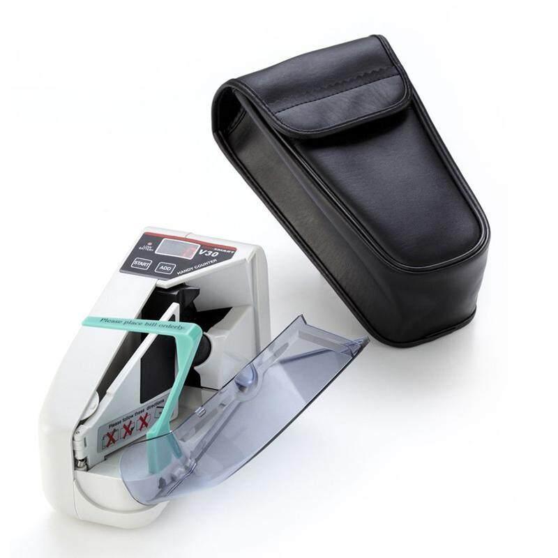 เครื่องนับเงิน ขนาดพกพา Portable Bill Counter V30 เครื่องนับแบงค์ เครื่องนับธนบัตร ขนาดเล็ก ใช้ Adapter หรือใส่ถ่านก็ได้.
