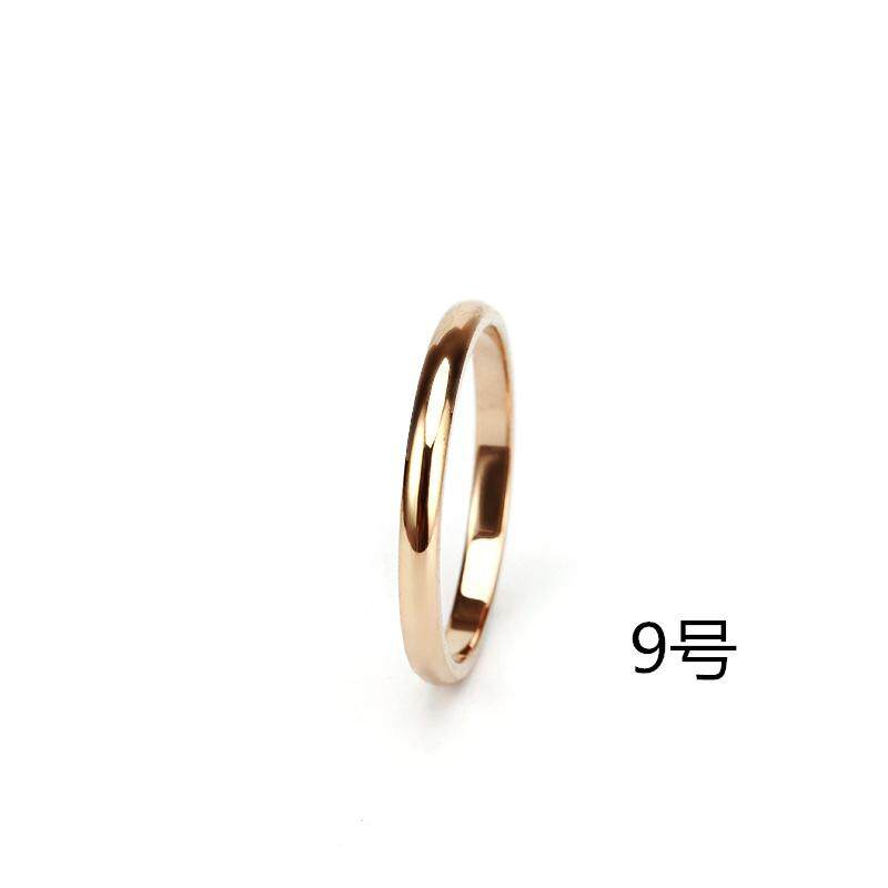 bed529b29f The Prize Money Ring women 18k Rose Gold Decoration Forefinger Fine Ring  women Simple Joints Rings