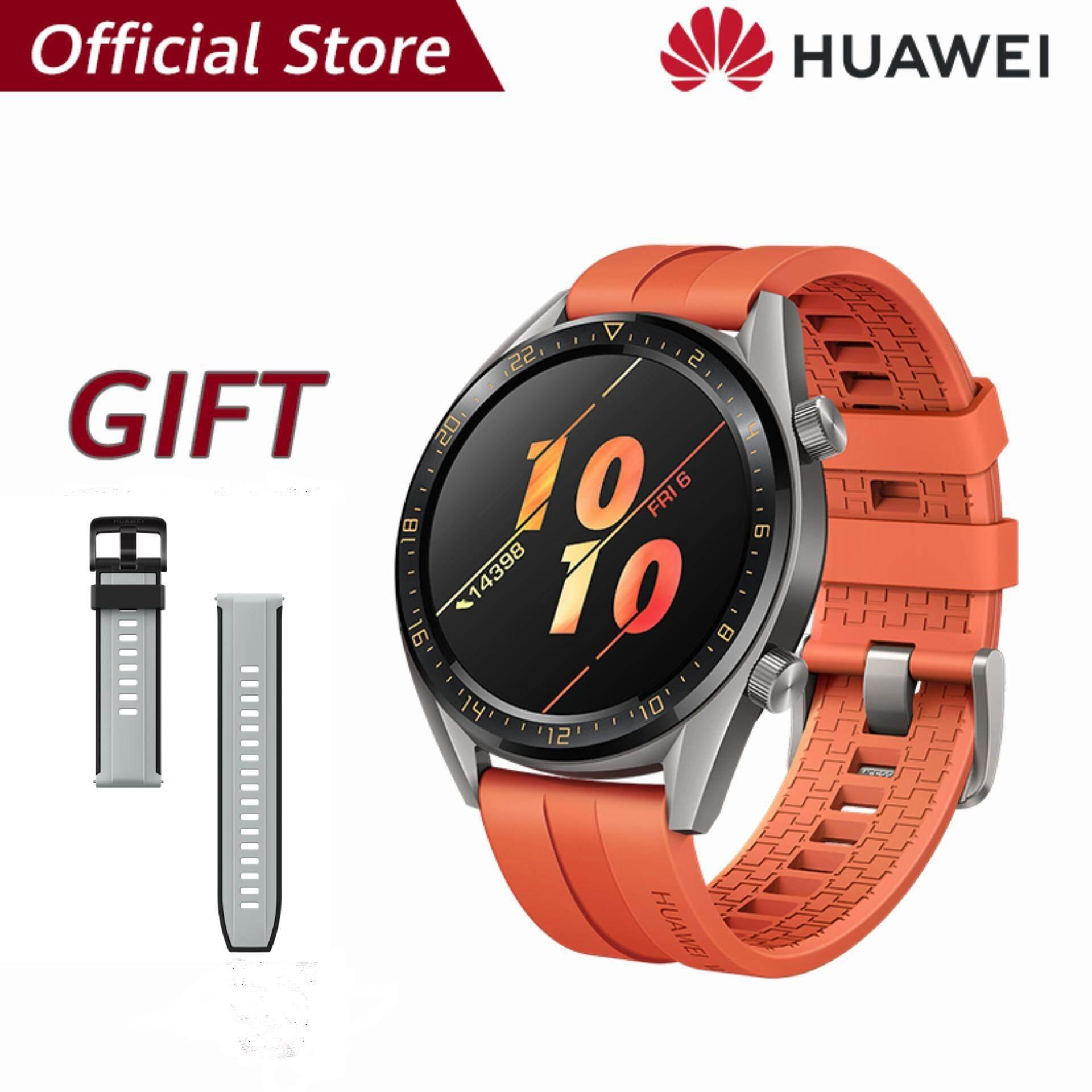 【ผ่อน 0% 10 เดือน】Huawei Watch GT แบตเตอรี่ที่แข็งแกร่ง*รับของแถม Huawei strap(Black)