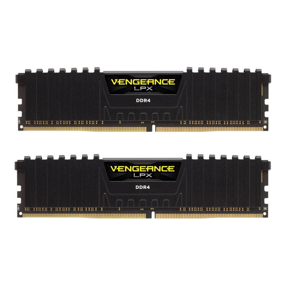 16GB (8GBx2) DDR4/3000 RAM PC (แรมพีซี) CORSAIR VENGEANCE LPX (BLACK) (CMK16GX4M2B3000C15)