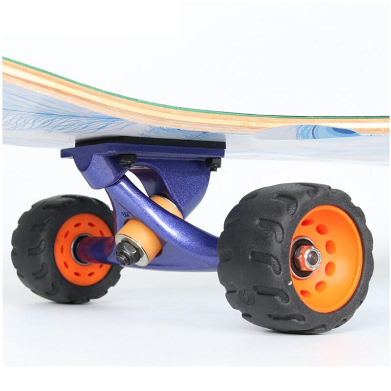Giá bán 4Pcs/Set 75Mm Skateboard Wheels Durable Anti-Vibrate Longboard Wheel Bearings Wheels Single Double Rocker Wheel
