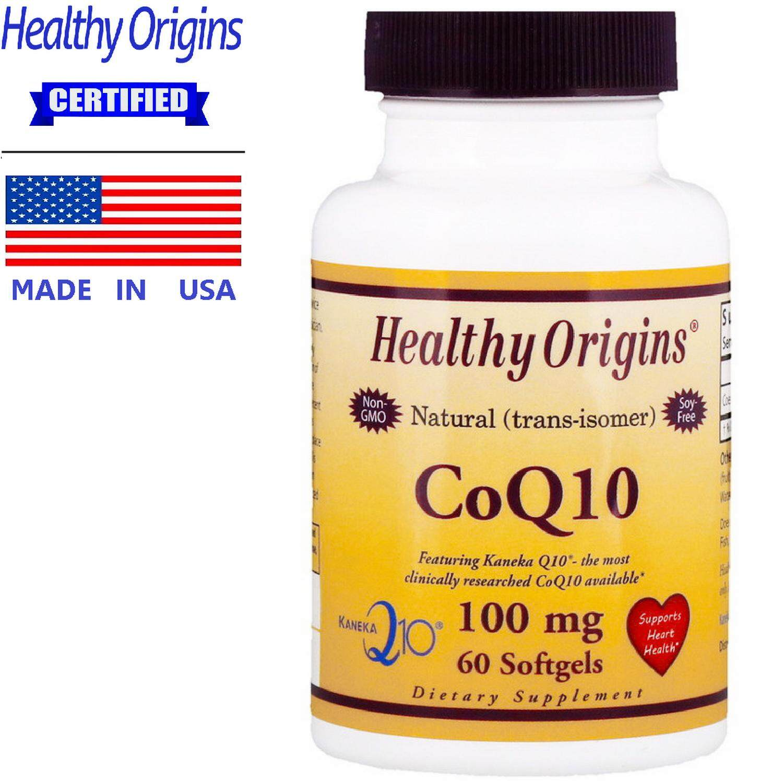 Healthy Origins Coq10 100 Mg X 60 เม็ด เฮลท์ตี้ ออริจินส์ โคคิวเทน บำรุงหลอดเลือด หัวใจ สายตา ข้อเสื่อม Coenzyme Q10.