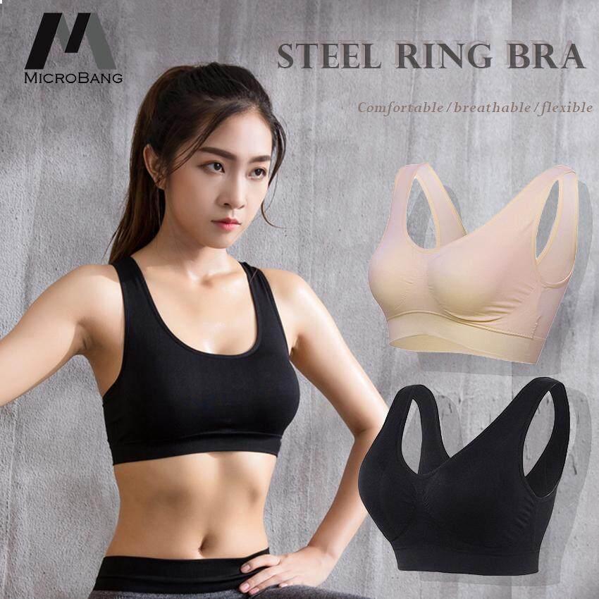 PACK OF 3 Seamless Comfort Bra  Women Fitness Comfy Vest Type Sports Underwear