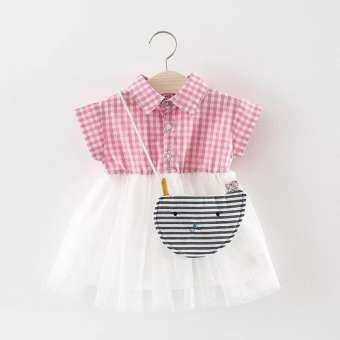 เสื้อผ้าเด็กผู้หญิง ชุดกระโปรงเด็ก เดรสเด็ก ❤️ I'm Baby ลายตาราง สีชมพู-ขาว/ดำ-ขาว ชุดวินเทจ เดรสไปเที่ยว ผ้าดี สบาย ไม่ร้อน ใส่เที่ยวน่ารักมากค่ะ (9เดือน-4 ปี)-
