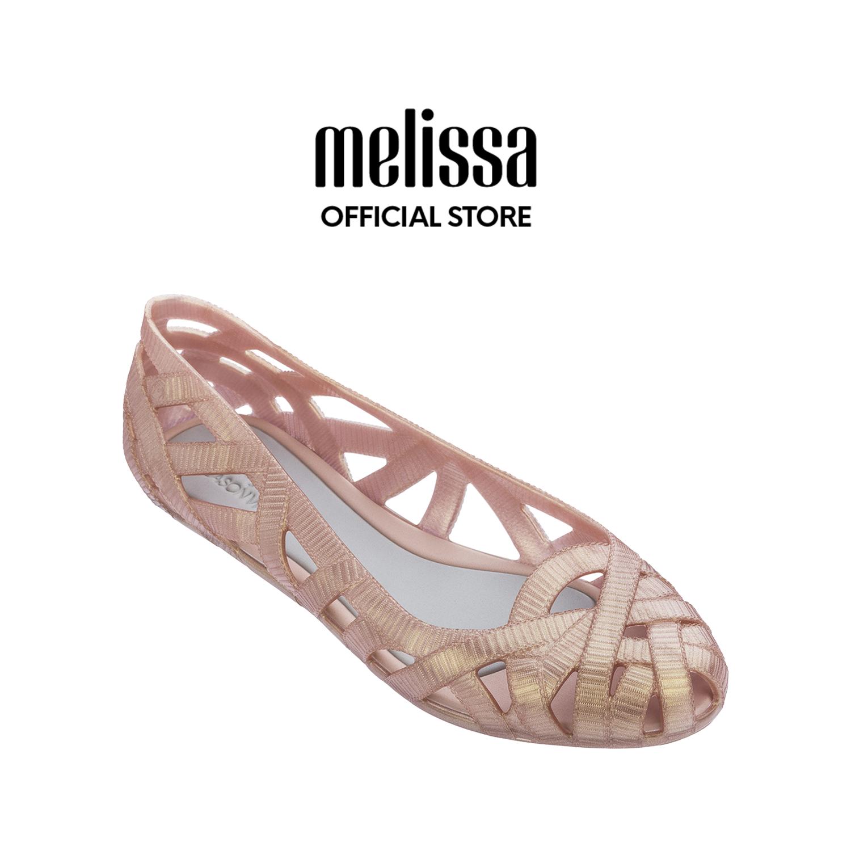 Melissa Jean + Jason Wu Vii 32288 เมลิสซ่า จีน + เจสัน วู เซเว่น รองเท้า รองเท้าส้นเตี้ย รองเท้าส้นแบน รองเท้าหุ้มส้น.