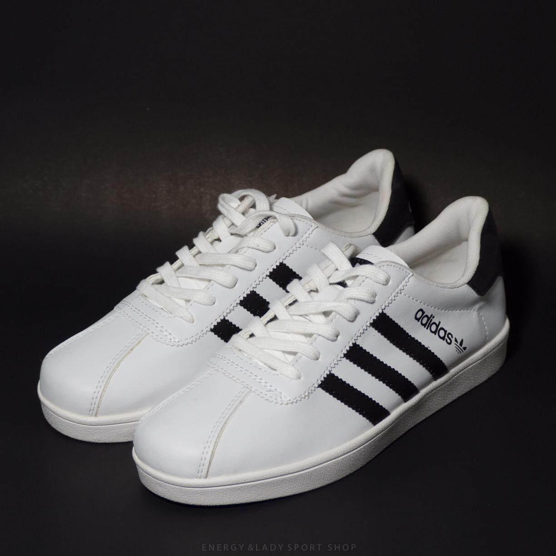 New Adidasอดิดาส รองเท้าผ้าใบ สีขาว สินค้าพร้อมส่ง (ถ่ายจากสินค้าจริง).