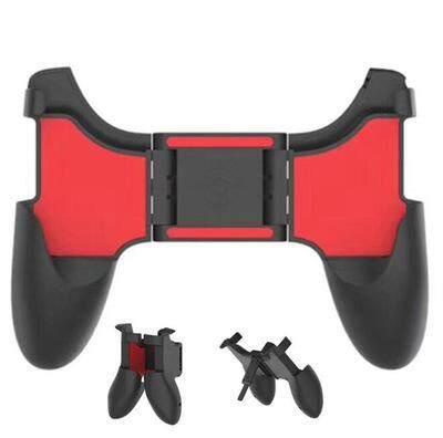 Mobile Gamepad ด้ามจับ Pubg (สีแดง-ดำ) Mobile Joystick ขาจับโทรศัพท์สำหรับเล่นเกม จอยถือด้ามจับเล่นเกมสำหรับมือถือ 4.5-6.5 นิ้ว พับเก็บได้ By We Are Family.