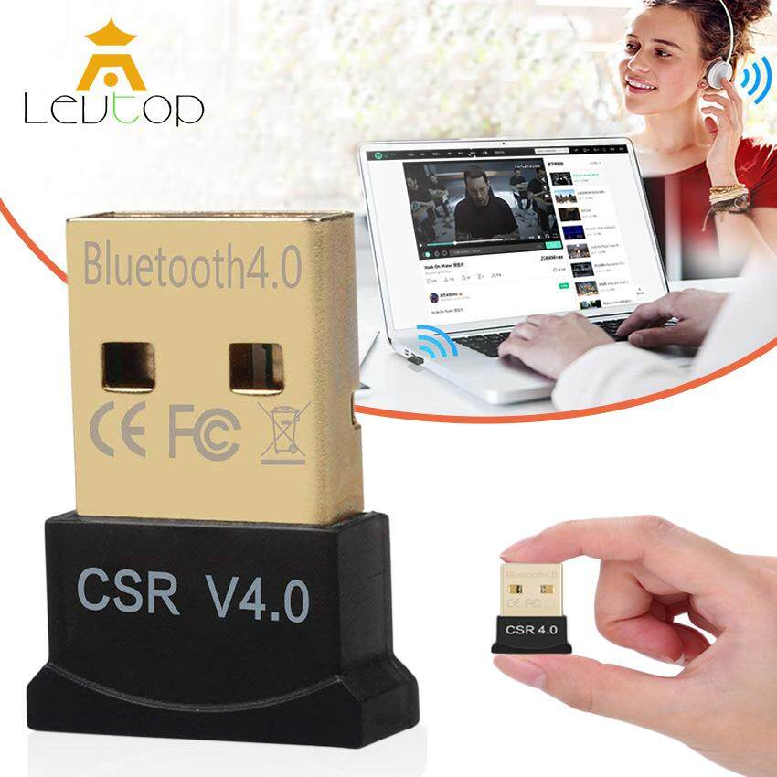 LEVTOP USB Bluetooth Adapter for PC Wireless Dongle Mini Bluetooth USB  Dongle Dual Mode Bluetooth 4 0 Adapter for PC Computer Laptop Windows