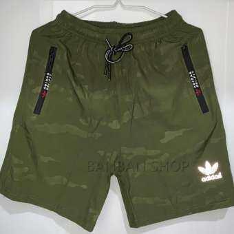Adidas ชายกางเกงขาสั้นกีฬาฤดูร้อนวิ่งออกกำลังกายเอวยางยืด-