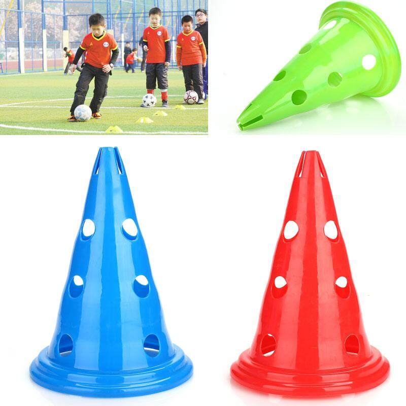 ลดราคา Professional football training equipment-Professional Brand New High Quality Lightweight Convenient Fashion Durable Soccer Marker Disc Court Marker Cones Football PE Training Barrier สี : แดง