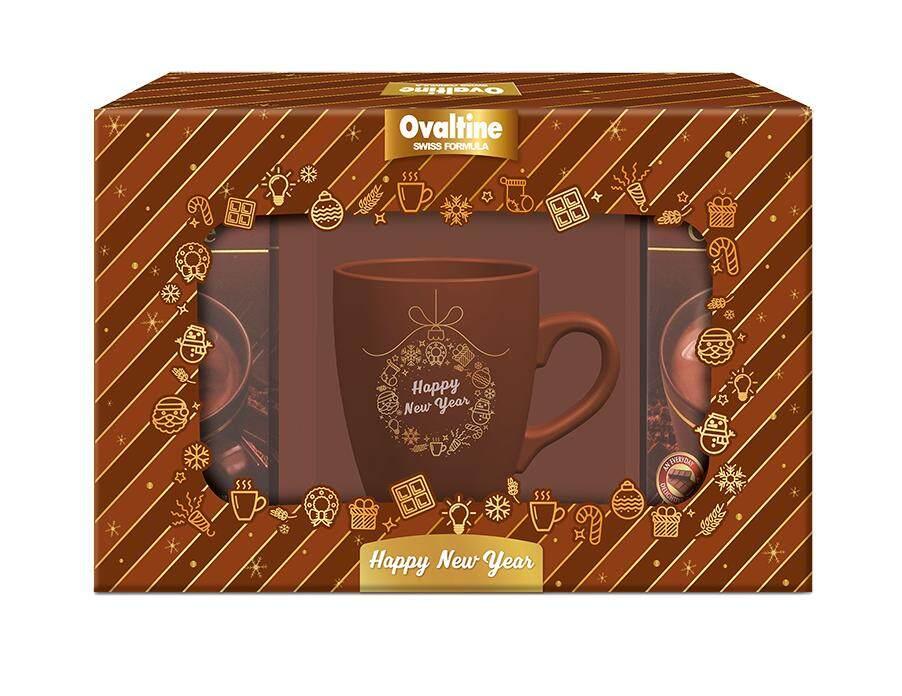 ชุดของขวัญ โอวัลติน สวิส ฟอร์มมูล่า ริช ช็อกโกแลต 710กรัม (29.6กรัม X 24ซอง) พร้อมแก้วเซรามิค 1ใบ.