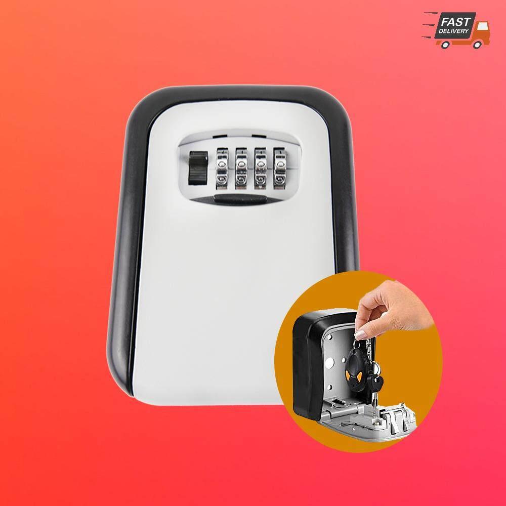 กล่องเก็บกุญแจ พร้อมล็อครหัส 4 หลักเพิ่มความปลอดภัย Safe key box