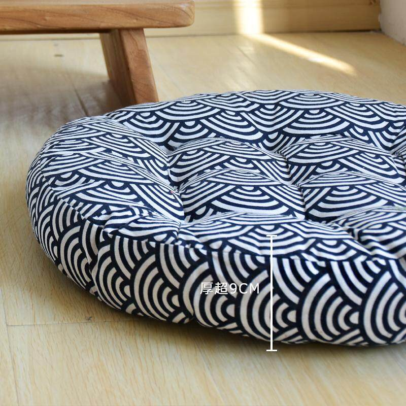Cotton Linen Futon Hip throw pillow Thick Fabric Circle Japanese Style Terrace/Patio Bay Window Tatami Window Floor Meditation