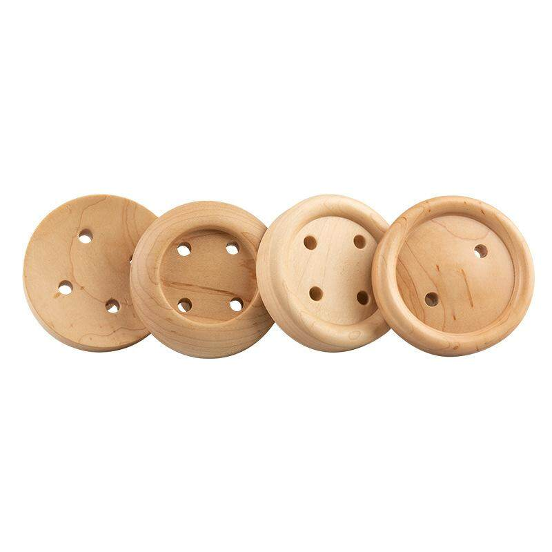 Nordic Button Wall Hooks Wood Wall Key Hanger Creative Coat Hook Home Decoration Wall Hookup Clothesline Home Decoration 1 Set Of 4