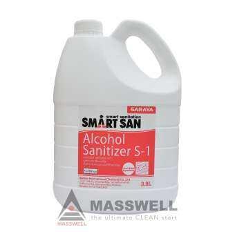 SARAYA น้ำยาแอลกอฮอล์ฆ่าเชื้อ SmartSan Alcohol Sanitizer S-1 3.8 ลิตร-