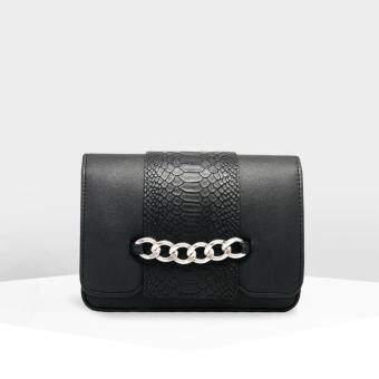 WOVE - Adder Gracie กระเป๋าสะพายข้างผู้หญิง ปกหนังงู PU แต่งโซ่ด้านหน้า