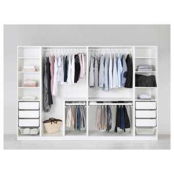 ตู้เสื้อผ้า, ขาว ความกว้าง 250 ซม. ขึ้นไป PAX-