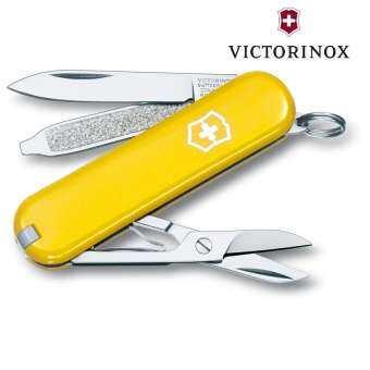 มีดพับเอนกประสงค์  Victorinox Classic SD Yellow 0.6223.8-