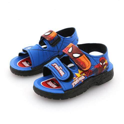 รองเท้ารัดส้นเด็ก รุ่น BC1022 ลายสไปเดอร์แมน สีฟ้า ขนาด 30