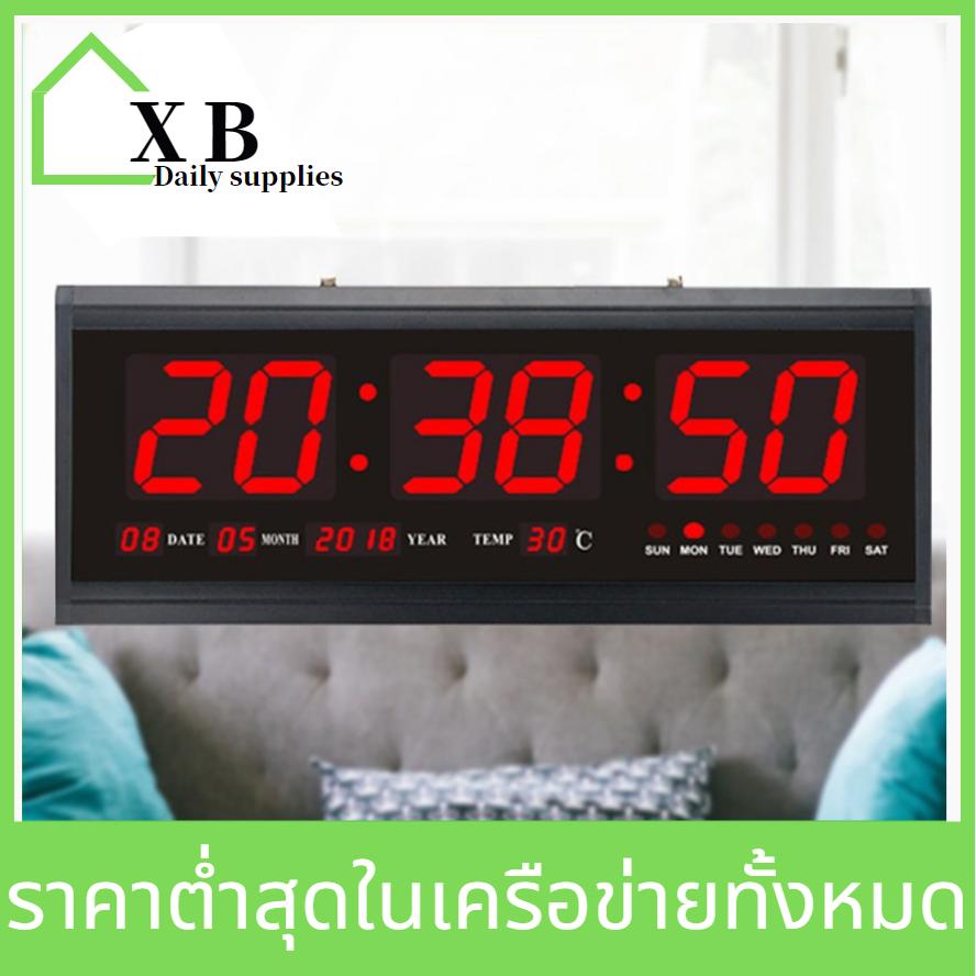 BestoreHome นาฬิกาดิจิตอล LED Digital Clock Clock 48x19x4. 5cm รุ่นJH- 4819