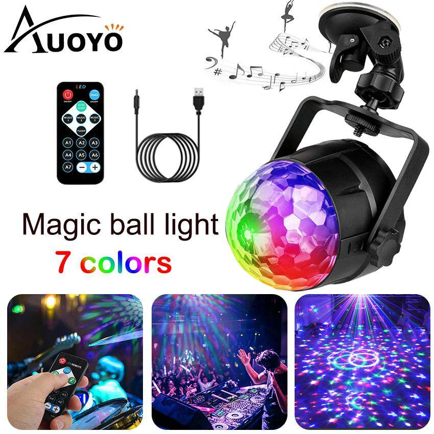 Auoyo Mini LED Lighting Disco Ball Party Lights Ripple Light Sound Activated DJ Lights For Parties 7 Colors Strobe Light For Home Stage Wedding Bar Birthday Gift Siêu Ưu Đãi tại Lazada