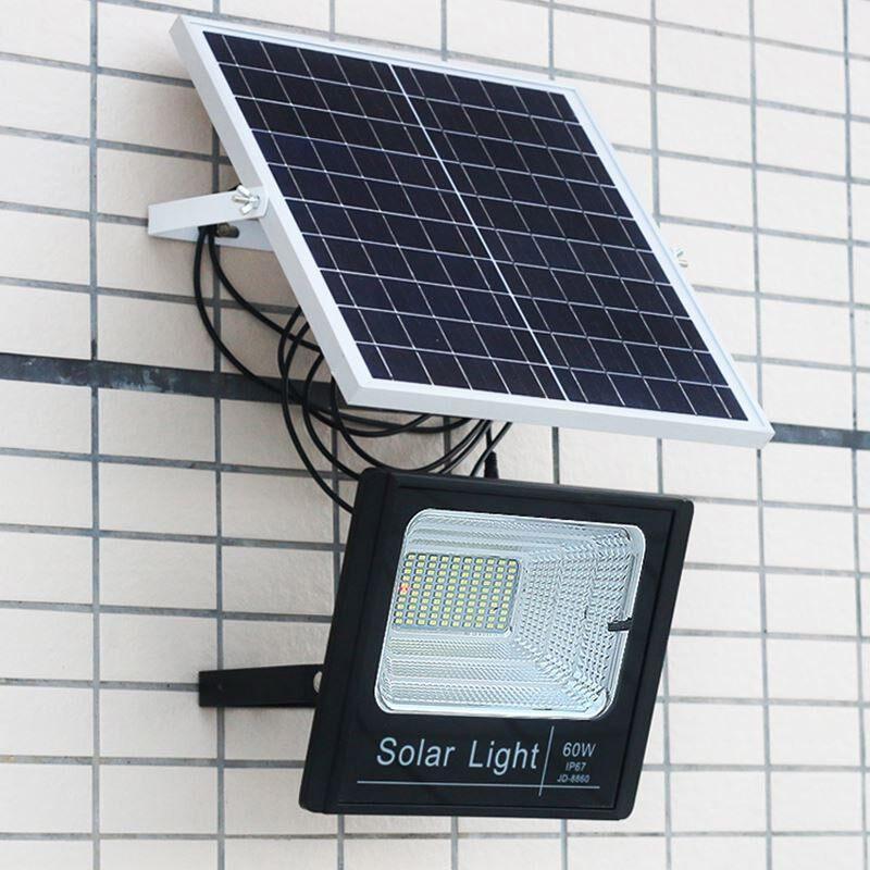 ราคาพิเศษ+ส่งฟรี  สปอร์ตไลท์ Led ไฟโซล่าเซล Solar Cell รุ่น 10W 25W 40W 60W 100W 200W พร้อมรีโมท**60W   มีเก็บปลายทาง