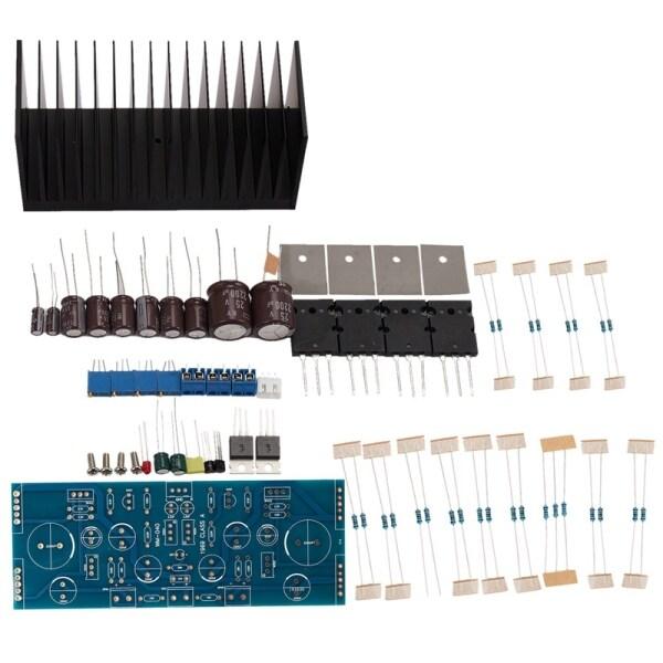 1969 Npn 2.0 Channel Class a Amplifier Completed Board and Heatsinks