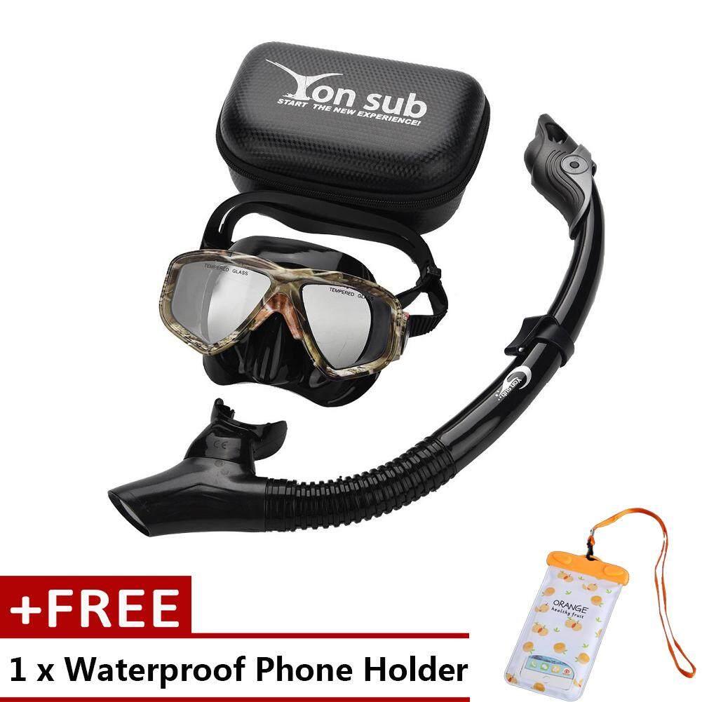Freegift Yon Sub แว่นตาดำน้ำแว่นปกป้องดวงตา Air หลอดว่ายน้ำวาล์วหายใจ - Intl By Duoqiao.