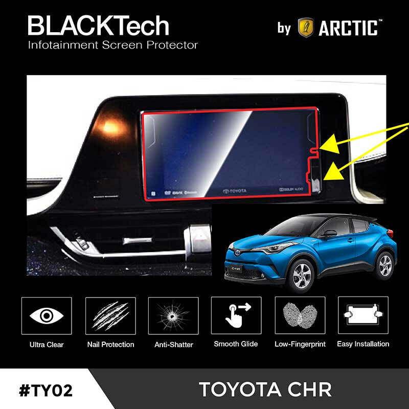 ( พิเศษ ) สำหรับ รถยนต์ ฟิล์มกันรอยหน้าจอรถยนต์ Toyota Chr จอขนาด 8 นิ้ว - Blacktech By Arctic.