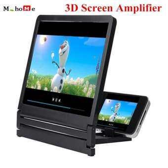 M_home 3D Movie Screen Amplifier ป้องกันรังสี 3D หน้าจอภาพยนตร์ขยาย Vivid แว่นขยายสีเขียว HD ที่วางโปรเจคเตอร์-