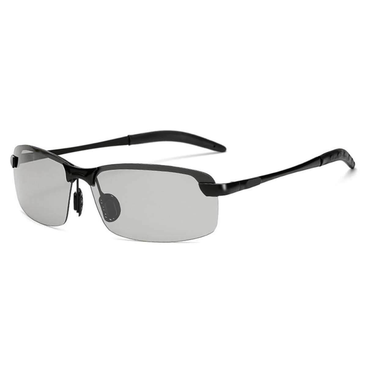 Best แว่นกันแดดคุณภาพดี เลนส์เปลี่ยนสี ป้องกันรังสีuv ออกแดด เปลี่ยนสีใน30วินาที เหมาะสำหรับการใส่ขับรถ (เลนส์สีเทาอ่อนเปลี่ยนเป็นเทาเข้ม).