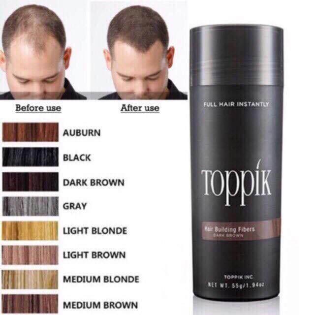 ไฟเบอร์เพิ่มผมหนา ผงโรยหัว ราคาส่ง Toppik Hair Fiber 27.5g รบกวนระบุสีที่ต้องการมาในแชทค่ะ