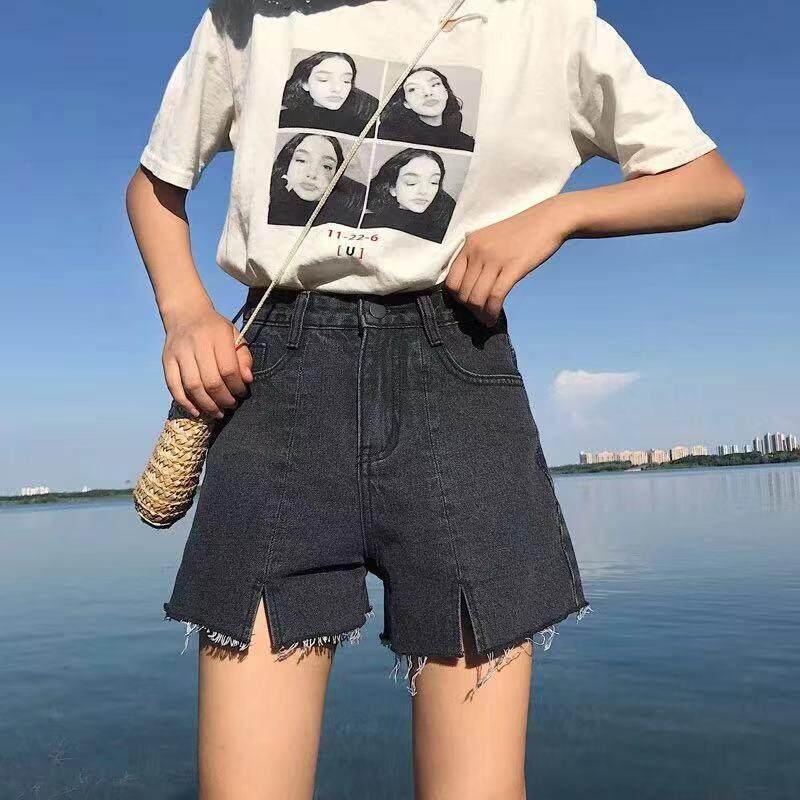 K.b Shop Sale‼️ กางเกงยีนส์ ขาสั้น ทรงสวยเข้ารูป ปลายรุ่ย ผ้ายีนส์เเท้ ผ้ายีนส์ดีสวมใส่สบาย Fashion Short Jeans 1851.