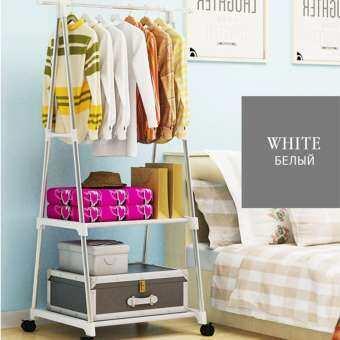 ราวตากผ้า ที่แขวนเสื้อผ้า ข็งแรง รับน้ำหนักเยอะ Triangle clothes tree movable coat rack new step asi-