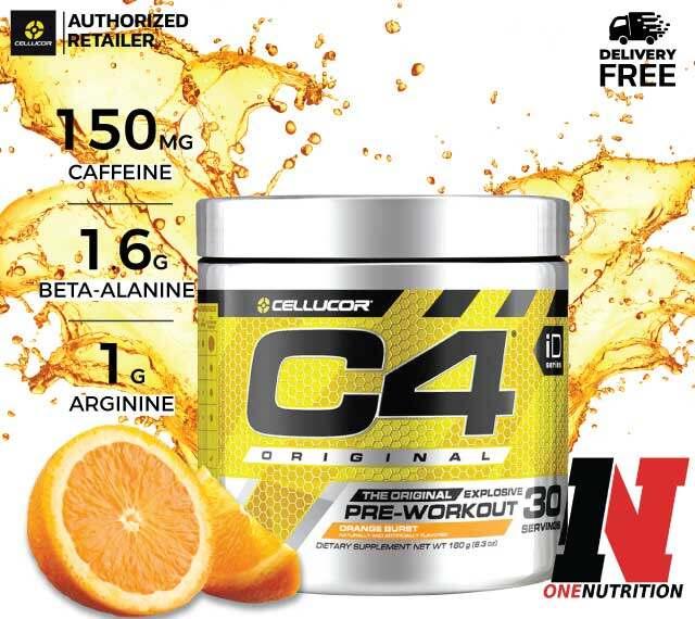 Cellucor C4 Original Pre-workout 30Servings - Orange Burst เพิ่มพลังก่อนออกกำลังกาย