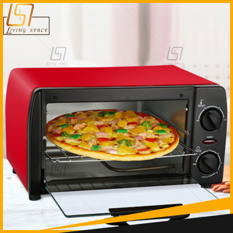 เตาอบ เตาอบไฟฟ้า เตาอบตั้งโต๊ะ ตู้อบ ไมโครเวฟ เตาอบอเนกประสงค์ เตาอบเบเกอรี่ เตาอบขนม ความจุ 12 ลิตร มี 3 สี (ดำ ชมพู แดง) Electric Oven.