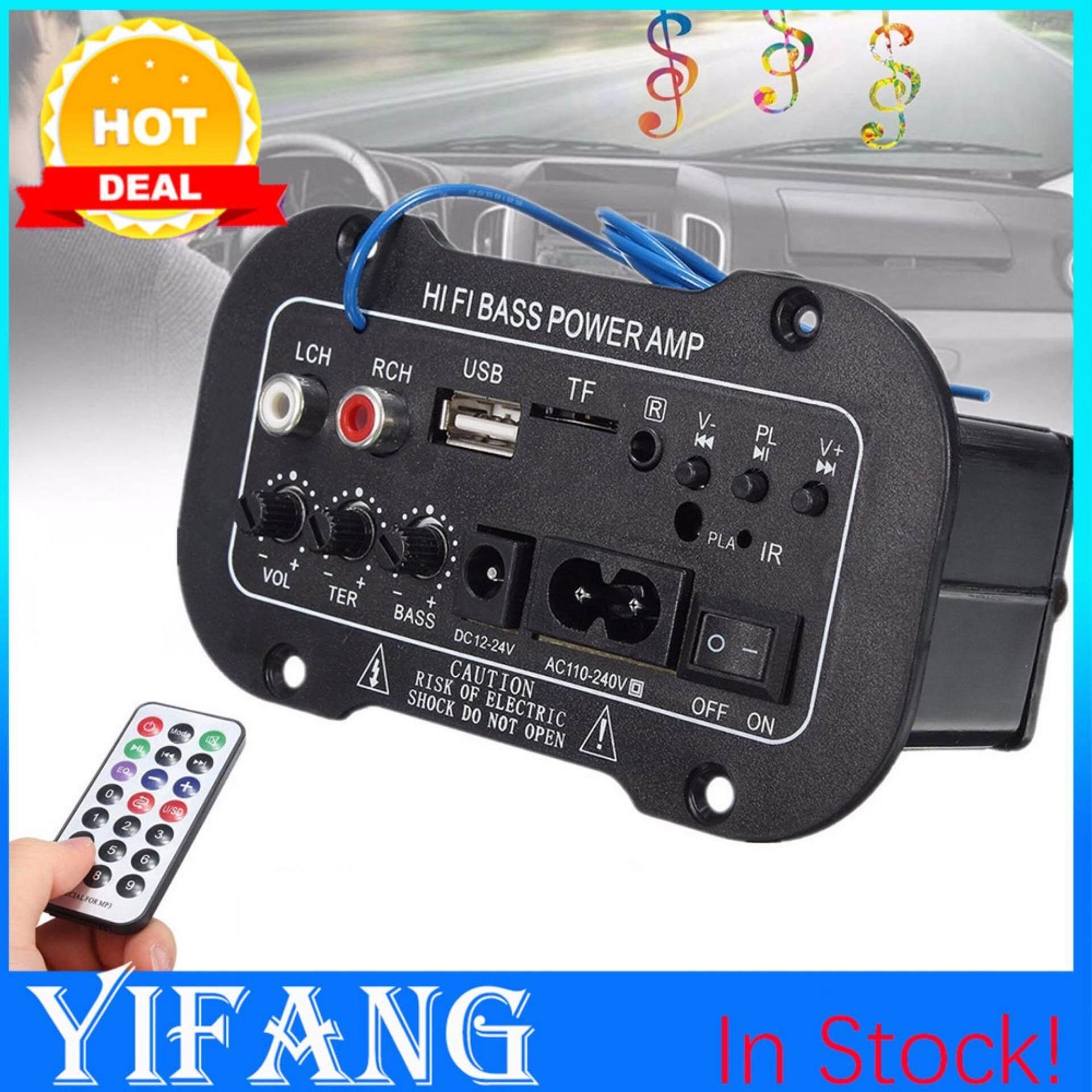 Yifang - รถบลูทูธไฮไฟ Bass เพาเวอร์แอมป์สเตอริโอ 220 โวลต์เครื่องขยายเสียงดิจิตอล Usb Tf ระยะไกลสำหรับรถบ้านอุปกรณ์เสริม By Yifang.