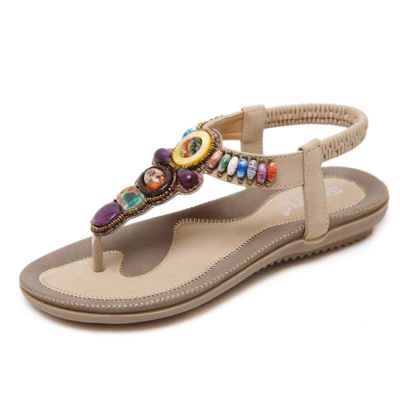 5be4e9fe9c Sandals women Summer Flat Bohemian Nation Torrid Zone Wind Vintage Tourism  Holiday Plus-sized Sandals
