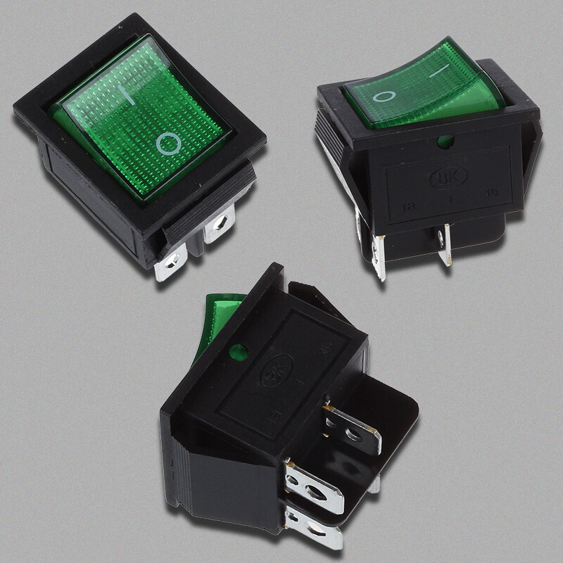 Bảng giá Green Light 4 Pin DPST ON/OFF Snap in Boat Rocker Switch 16A/250V 15A/125V AC Phong Vũ
