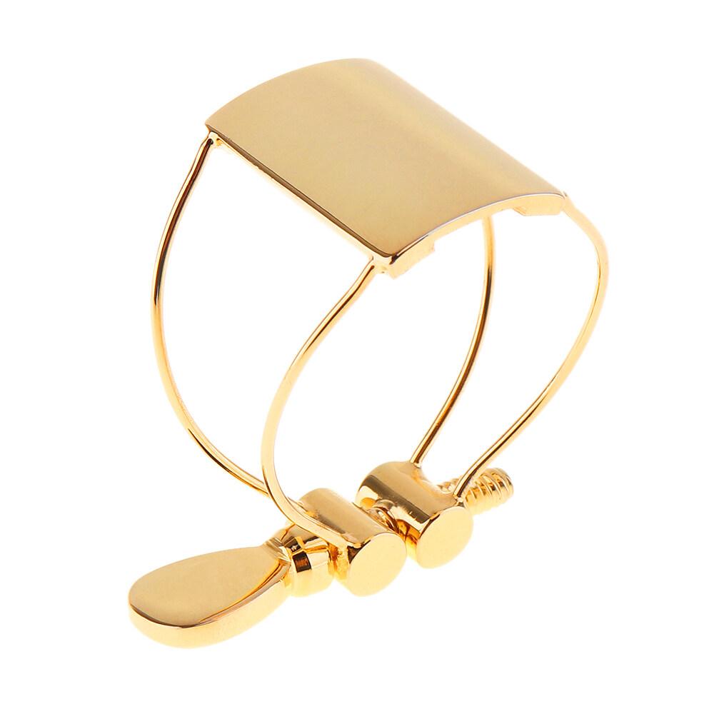 Durable Gold-Plated Metal Ligature Alto Sax Mouthpiece Clip for Saxophone