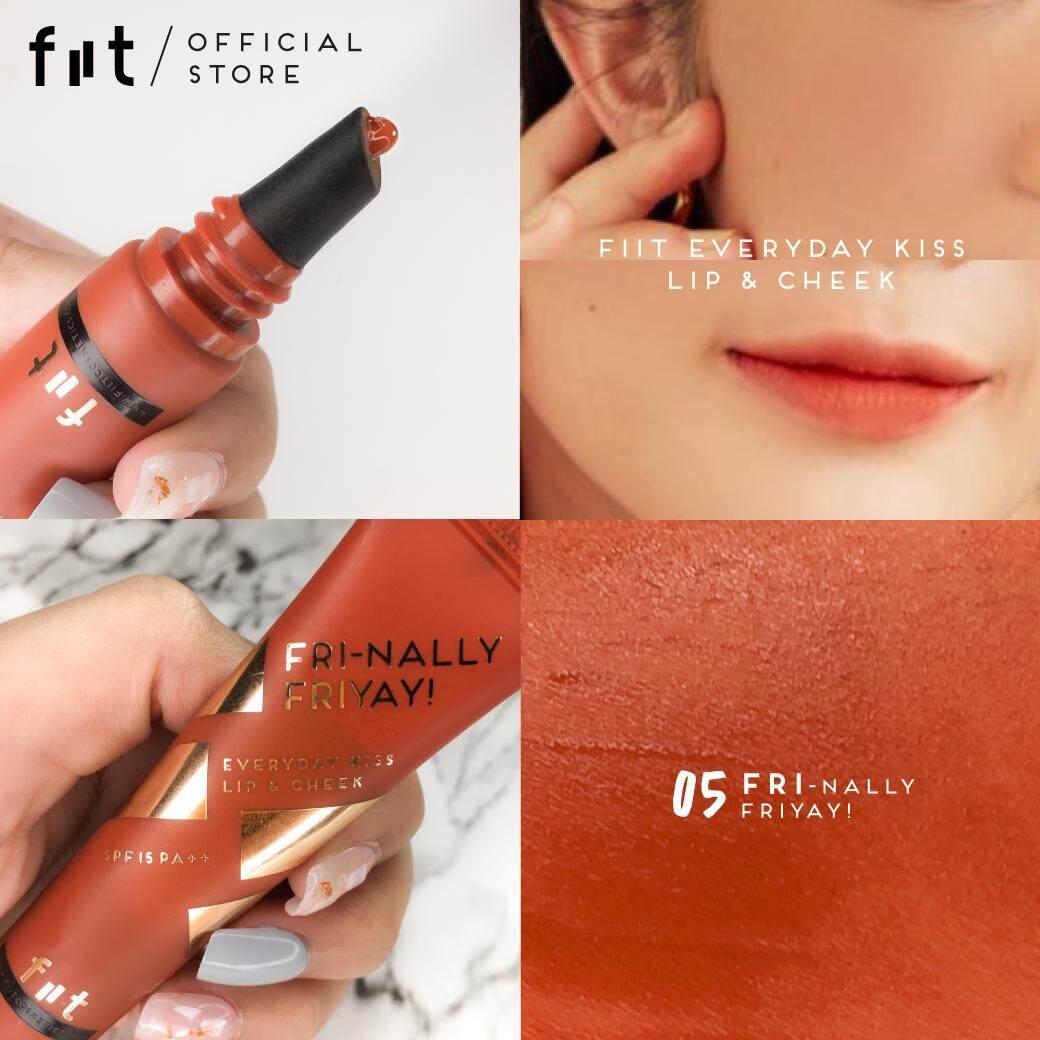ฟิตต์ เอฟวี่เดย์ คิส ลิป แอนด์ ชีค สี ไฟนอลลี่ ฟรายเยย์  Fiit Everyday Kiss Lip & Cheek 05 - Fri-Nally Friyay! ( เครื่องสำอาง , ลิปแมท , ลิปสติก , ลิปสติกเนื้อแมท , ลิปติดทน ,บางเบา , ชุ่มชื้น ).